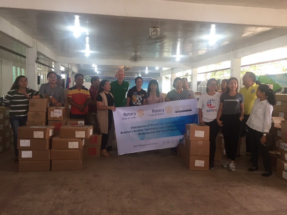 Distribution of Textbooks to Daanbantayan National High School